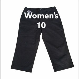 Limited 10 Chino Pants Khakis Crop Capris Black